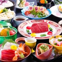 讃岐牛ステーキと濃厚カラスミ入り茶わん蒸し会席