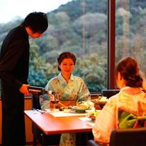 レストラン夕食の一コマ(一例)