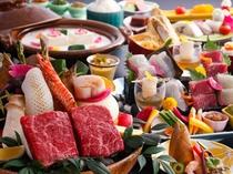【レストラン/基本会席】じゅうじゅう石焼で讃岐牛を堪能する会席(一例)
