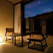 ◇露天風呂付客室(10畳)窓際◇