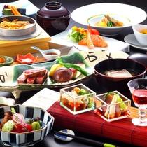 【『谷の茶屋』かまど料理】料理一例。先付からはじまる季節を楽しんでいただけるお料理。