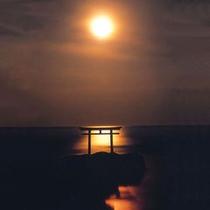 大洗 月の出