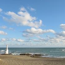 ホテル前 海岸