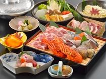 ご連泊のお客様には豪華味覚鍋をご用意。仕入等により異なる場合がございます。
