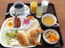 【無料朝食サービス(洋食例)】