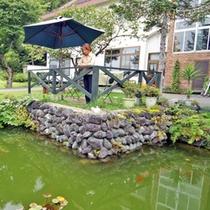 *庭/池が感じの良い当館のお庭。のんびり眺めてリラックスのひとときを。