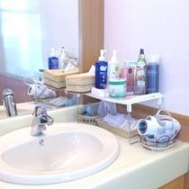 貸切風呂の洗面台