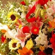 お祝い用に花束を