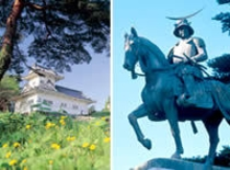 仙台城址、伊達政宗騎馬像