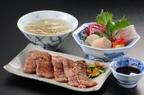 特別料理:牛タン+三陸の刺身単品