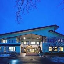 冬 ホテル 夕景
