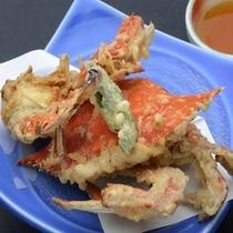 選べる蟹の天ぷら