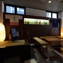 日本酒好きが垣間見れるロビー