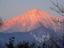 朝焼けの八ケ岳
