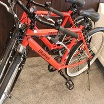 貸し出しの自転車