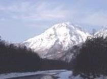 冬焼岳雪135x100