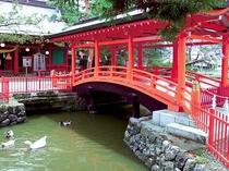 生島足島神社・神橋