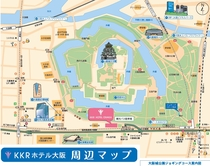 KKRホテル大阪周辺地図