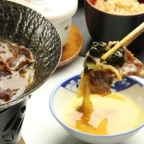 夕食 牛のすき焼き