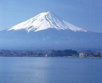 富士山のふもと、河口湖のほとり