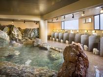 大浴場「豪壮アルプスの湯」大岩風呂