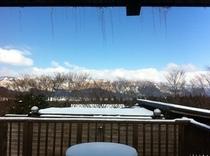 外輪山の雪景色