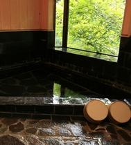 和風石造りのお風呂