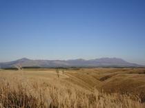 大草原(遠くに九重を望む)