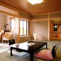 高野槇の露天風呂付・デラックス和室