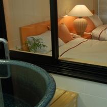 ゲルマニウム浴槽付ツインルーム【和タイプ】