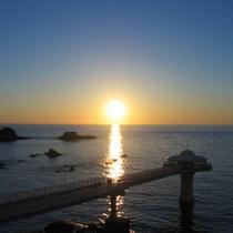 日本夕陽の宿百選選出の絶景夕陽