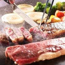 熟成肉の鉄板焼き