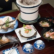 *スタンダードプランご朝食一例/朝からお刺身や干物をお楽しみいただけます。