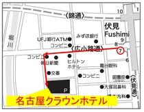 伏見駅7番出口からの地図 7番出口から徒歩で5分ほどです