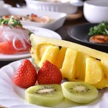 *レディースプラン(お食事一例)/女子が喜ぶ甘くて美味しいフルーツはお食事の最後に。
