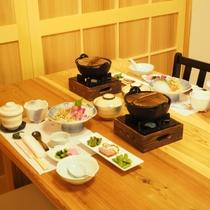 【食事処】2016年5月にリニューアルした個室食事処「ときは」は木の香りが心地よい空間♪