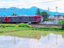 しなの鉄道 皐月風景
