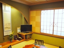 市松模様の和室メゾネット2F一例