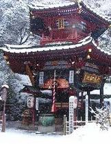 坂東16番水澤寺 六角堂 (雪の日)