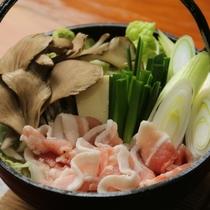 夕食-片品産 舞茸の入ったお鍋