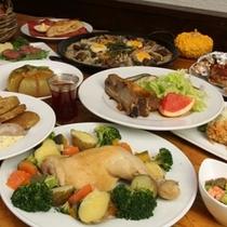 夕食全体(料理内容は日替わりイメージです。)