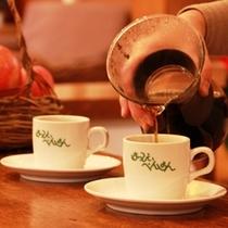 奥さんが淹れるコーヒー