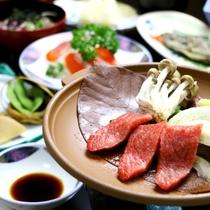 夕食一例_飛騨牛陶板焼き(スタンダード)