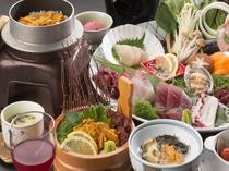 お部屋食イメージ(時季の旬な食材を用いたお料理イメージ)