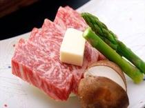 黒毛和牛ステーキの一例