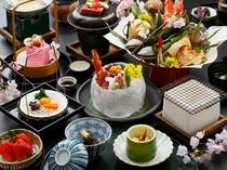 春懐石料理の一例(食を楽しむ;料理アップ一例)