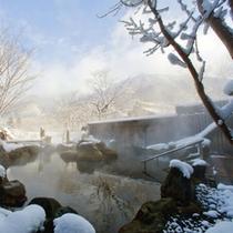 【大浴場】露天風呂(冬)