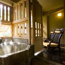 客室露天風呂一例(山の蔵・木の蔵)