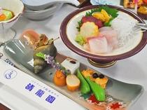 【お料理・前菜とお造り】夏の一例
