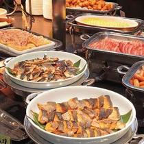 朝食バイキング(ブッフェ台)